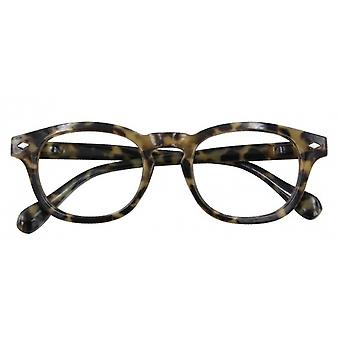 Reading glasses Unisex Bowie green/brown strength +2.5