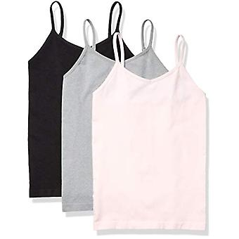 Essentials Girls' 3-Pack Nahtlose Camisole, Rosa/Heather Grau/Schwarz, S...