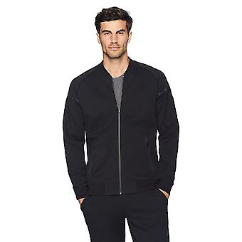 Peak Velocity Men's Metro Fleece Full-Zip Athletic-Fit Bomber Jacket, noir, ...