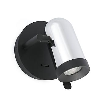 Faro Orleans - 1 lichte indoor verstelbare muur spotlight chrome, zwart, GU10