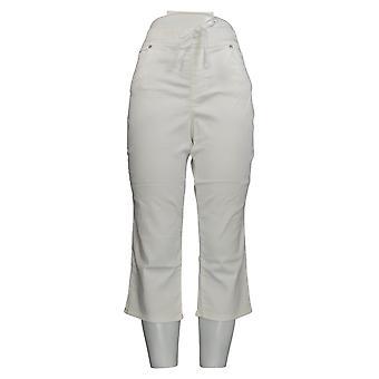 Martha Stewart Femmes-apos;s Pantalon Tricot Denim Pull-On Capri Blanc A309326