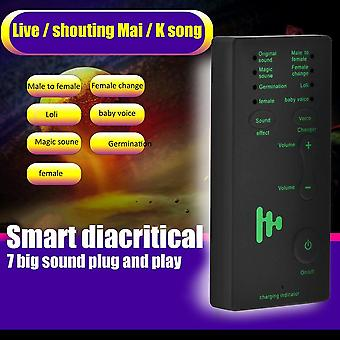 Hangváltó adapter -csodálatos hordozható mikrofon játék disguiser játékok