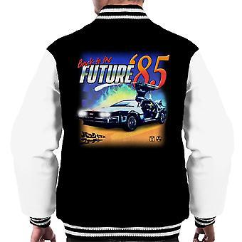 Powrót do przyszłości Delorean 85 Electric Charge Men's Varsity Jacket