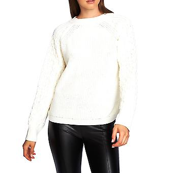 1.State | Crewneck Textured-Sleeve Sweater