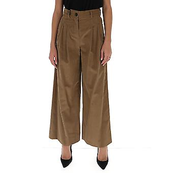 'S Max Mara 91361603600348001 Femmes-apos;s Pantalon en coton brun