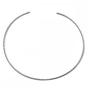 Beginnings Sterling Silver Plain Neck Torque Necklaces N3978