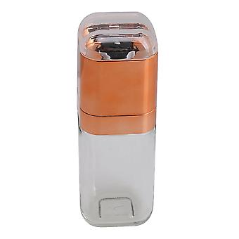 180ml vidrio plástico amoladora de sal manual de la mano de la herramienta de cocina del molino de pimienta