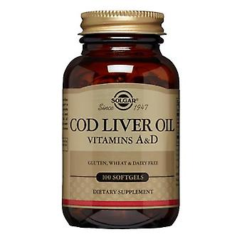 Solgar Norja Turska Maksaöljy Softgels (A- ja D-vitamiinilisä), 100 S Geelit