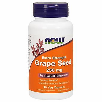 Nyt Elintarvikkeet Rypäleen siemenet, 250 mg, 90 Vcaps