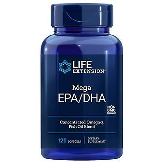 Extensão de vida Mega EPA/DHA, 120 Softgels