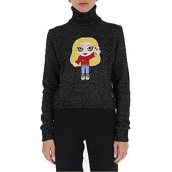 Chiara Ferragni Cfjm042blk Women's Black Wool Sweater