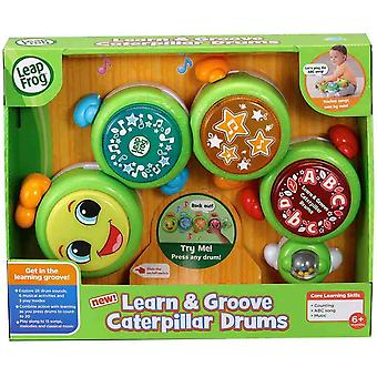 Leapfrog learn and groove caterpillar drums sensorial and motor skills baby toy