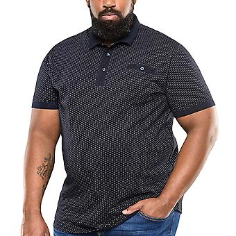 Duke D555 Hombres Big Tall King Tamaño Auckland Algodón Jersey Polo Camiseta Top - Azul