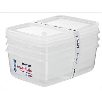 Stewart Essentials Rectangular Container 2.25L x 3 1502008