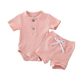 Vêtements d'été pour bébés, manches courtes, tenues body