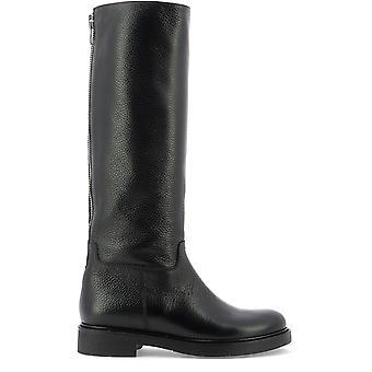 Guglielmo Rotta 1907cervonero Women's Black Leather Boots