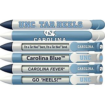 20506, North Carolina Tar Heels Braggin-apos; Rights Rotating Message 6 Pen Set 20506