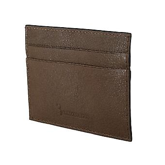 Brown leather cardholder w58930263