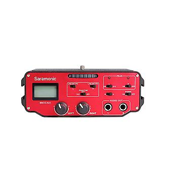 Saramonic bmcc-a01 2 channel xlr audio adapter for blackmagic design camera (black / red)