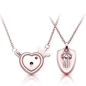 Stainless Steel, Jewelry Love Heart, Lock Bracelet, Key Pendant, Necklace