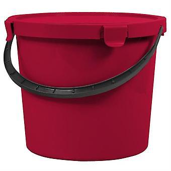 Wiadro Z PokrywÄ… Czerwone 10l Berry 6079 Plast Team