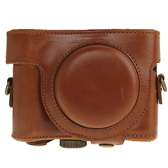 Leather Camera Case Bag for Sony HX50 (Brown)