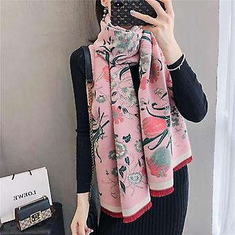 Winter Scarf Women, Cashmere Warm Pashmina, Foulard Lady Luxury Horse Scarves,