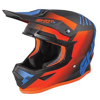 Shot Furious 2020 MX Helmet Adult Trust Black Blue Neon Orange Matt ACU Approuvé