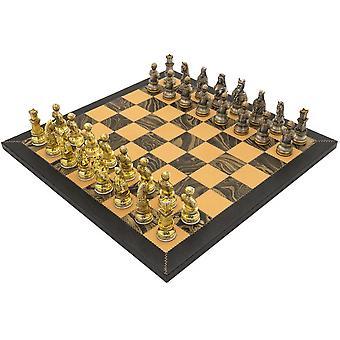 Den middelalderlige Amalfi håndlavede Deluxe skak sæt af Italfama