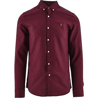 Farah Maroon Brewer Shirt