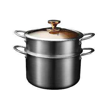 Stainless Steel Stockpot And Steamer Set With Lid , Gold