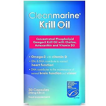 Cleanmarine Krill Oil 50mg Marine Gelcaps 30 (NLF073)