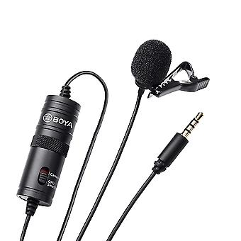 Boya by-m1 3.5mm lavalier condenser microphone - with arimic windscreen windshield for smartphones d