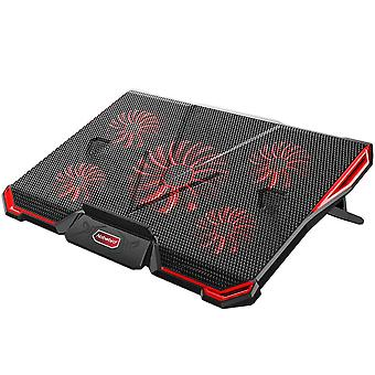 "Laptop cooling pad 12""-17.3"", ultra quiet laptop cooler stand with 5 fans at 2200rpm, gaming laptop"