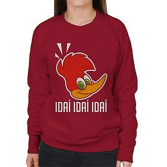 Woody Woodpecker Idai Idai Idai Mujeres's Sudadera