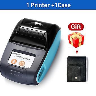 Μίνι bluetooth ασύρματη θερμική μηχανή bill εκτυπωτών εισιτηρίων απόδειξης (μπλε χρώμα