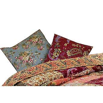 Oreiller décoratif en tissu Kamet avec imprimés floraux, ensemble de 2, multicolore