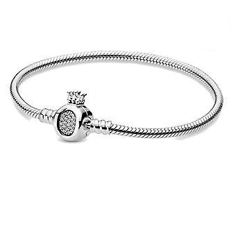 Sterling Silver Pan Charm Chain Bracelet