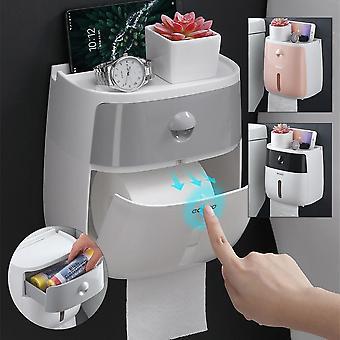 Туалетная бумага держатель стены установлены Self Клей ткани бумаги держатель окно для рулонной бумаги кухонной бумаги