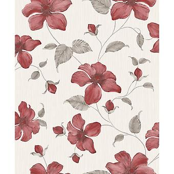 Magnolia Red Wallpaper