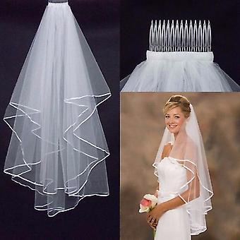 Bridal Veil With Comb Wedding 2-layers Accessories