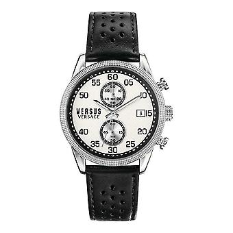 Versus by Versace Men's Watch Wristwatch Chrono Shoreditch S66060016 Leather