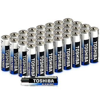 Toshiba AAA Alkaline Batteries 40 Pack | High Power | Extra Long Operating Time | LR03 Superior Japanese Quality | Super Value Bulk Pack