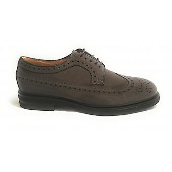 Brogue Men's Shoe Ancient Cuoieria Mod. Mount Suede Grey U19ac01