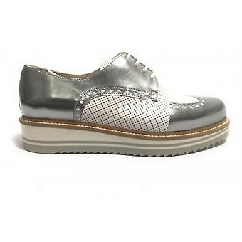 Women's Shoes Yox N. Bearded French Zeppata Two-tone White Steel Ds17nb02