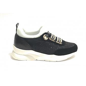 Shoes Women's Sneaker Running Liu-jo Tc 55 Mod. Karlie Elastic Lace Col. Black/ White Ds19lj09