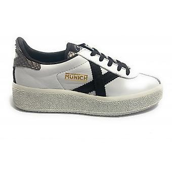 Shoes Women Munich Sneaker Mod. Barru Sky In White Leather D20mu02