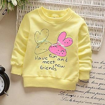 الأطفال هوديس Sweatshirts الكرتون أرنب الفراولة القطن Pullover الأعلى