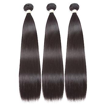 Straight Brazilian 10a Grade Human Hair Extension Bundles With 4x4
