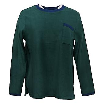 Cuddl Duds Mujeres's Regular Fleecewear Stretch Pajama Green A381825
